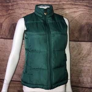 Maurice's Women's Bubble Vest Size Small Green